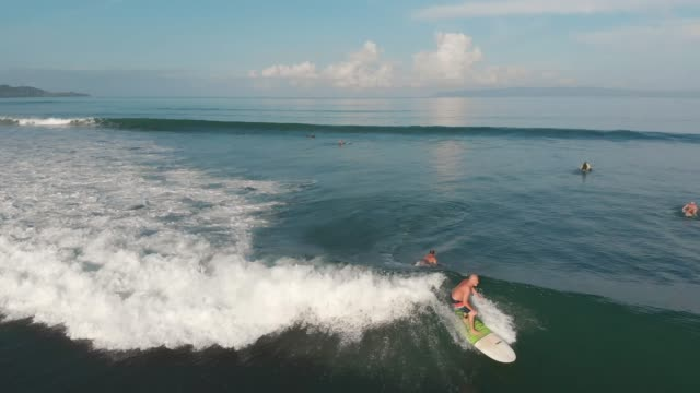 surfing in costa rica - hobbies stock videos & royalty-free footage
