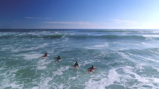 Surfing in the ocean