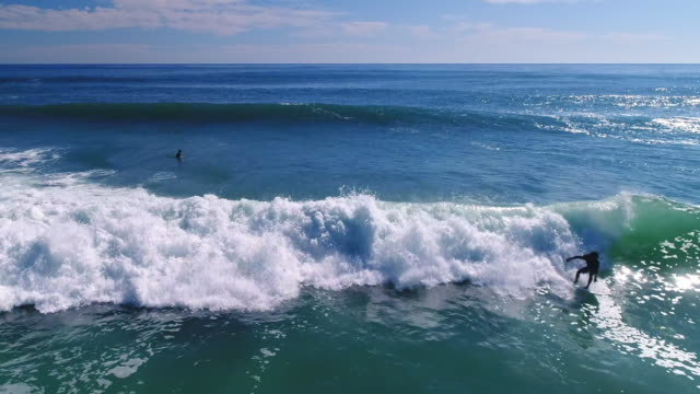 surfing in the ocean - only men stock videos & royalty-free footage
