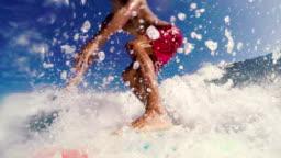 POV Surfing SLOW MOTION.