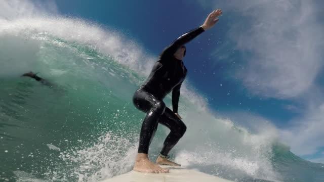 vídeos de stock, filmes e b-roll de surf - tubo de ondas