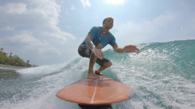 surfing - costa rica stock videos & royalty-free footage