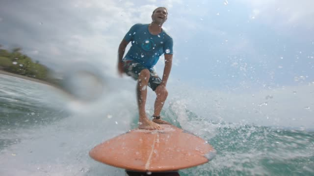 surfing - surfboard stock videos & royalty-free footage
