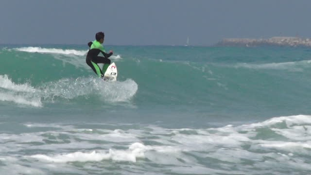 surfing - one teenage boy only stock videos & royalty-free footage