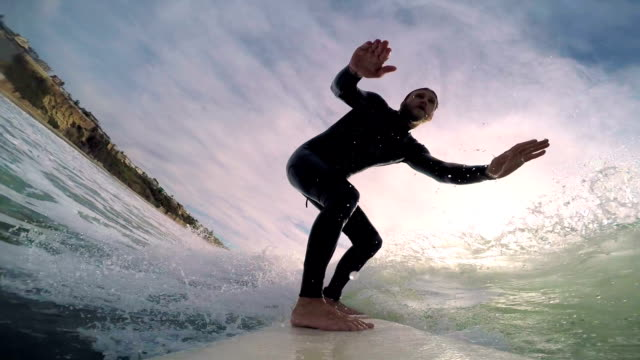 surfing - water sport stock videos and b-roll footage