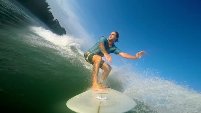 surfing  - provinz puntarenas stock-videos und b-roll-filmmaterial