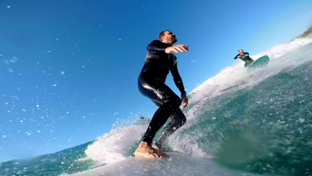 surfing with friends - contestant stock videos & royalty-free footage