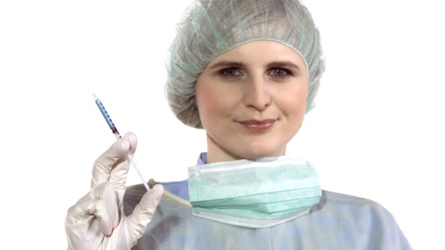 HD DOLLY: Surgeon Holding A Botox Injection