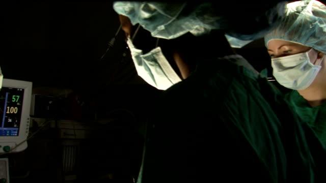 Surgeon performing operation
