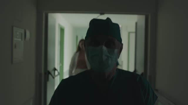 surgeon walking in hospital - nurse walking stock videos & royalty-free footage