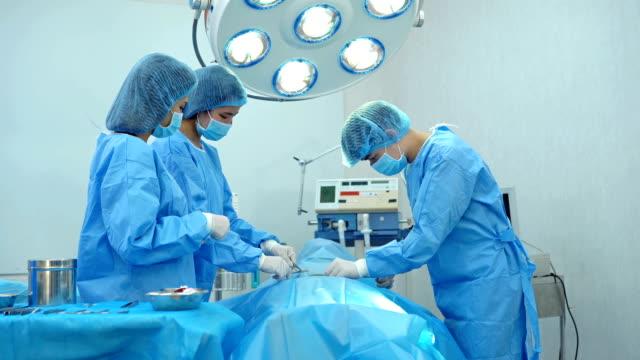 手術室で動作する4k外科医 - 手術点の映像素材/bロール
