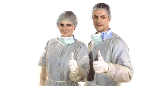 HD DOLLY: Surgeons Showing Thumbs Up