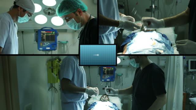 vídeos y material grabado en eventos de stock de cirugía y de cirujanos - pantalla dividida
