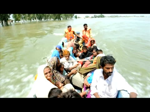 surging floodwaters continue to threaten towns in southern sindh, where 19 of its 23 districts have been deluged and more than one million people... - 50 seconds or greater stock videos & royalty-free footage