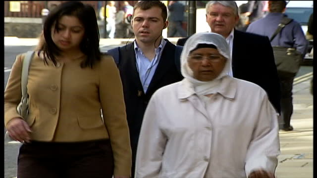 motherinlaw found guilty london bachan athwal along to court with female companion - mother in law stock videos & royalty-free footage