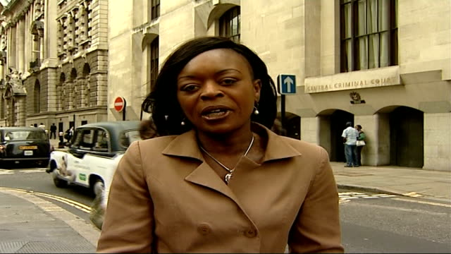 motherinlaw found guilty london old bailey ext reporter to camera - mother in law stock videos & royalty-free footage