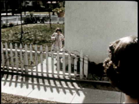 a surprise for jean - 2 of 7 - anno 1954 video stock e b–roll
