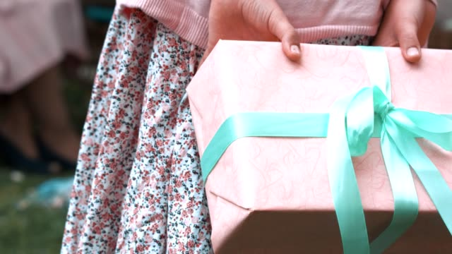 surprise gift for mother's day - wrapped stock videos & royalty-free footage