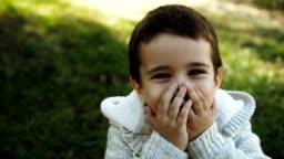 Surprised toddler boy