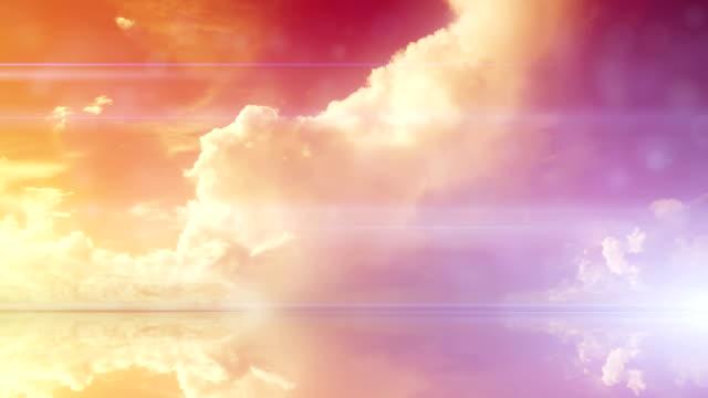 surreal wolken zeitraffer - fee stock-videos und b-roll-filmmaterial