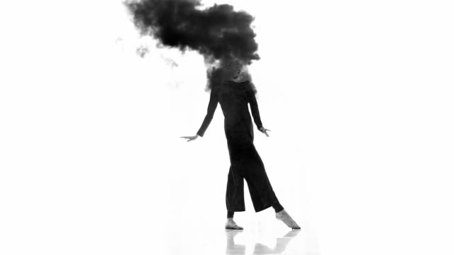 surreal dancer in slow mo - black dress stock videos & royalty-free footage