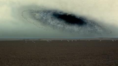 surreal desert. space black hole. - vortex stock videos & royalty-free footage