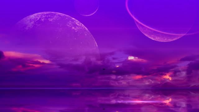 surreal purple world - alien stock videos & royalty-free footage