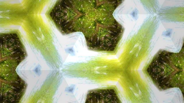 surreality abstract motion graphics - caleidoscopio motivo video stock e b–roll
