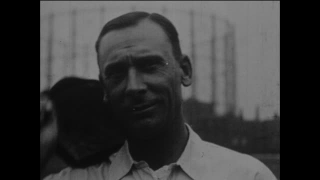 surrey and england cricketer, jack hobbs at the kennington oval in london, circa may 1925. - oval kennington stock videos & royalty-free footage