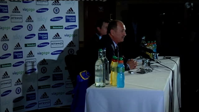 surrey cobham photography** luiz felipe scolari press conference sot jokes that he is 'special' to his family and friends / [i am] as a manager soso... - コブハム点の映像素材/bロール