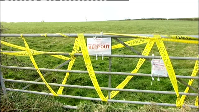 independent report published summer 2007 surrey 'keep out' sign on farm fence 2007 ends - keep out sign stock videos & royalty-free footage