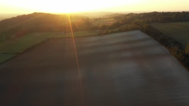 surrey hills at sunset - wide stock videos & royalty-free footage
