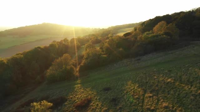 surrey hills - sunset - surrey england stock videos & royalty-free footage