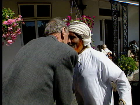 Wilfred thesiger videos and b roll footage getty images surrey purley thesiger greeting former arab travelling companion with nose kiss then greeting another m4hsunfo