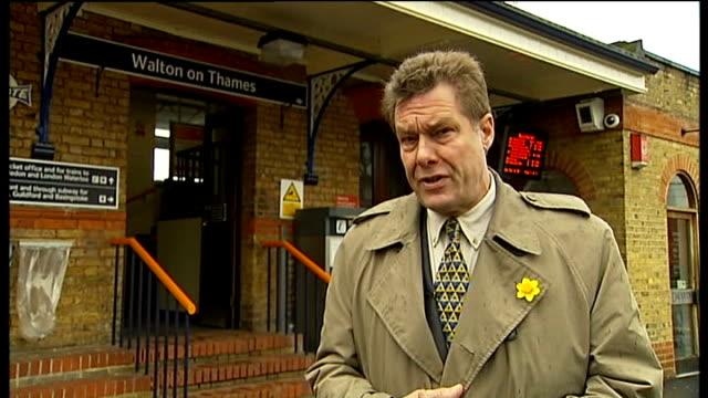 walton on thames reporter to camera - surrey england stock videos & royalty-free footage