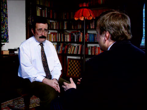 int ms professor robert winston at bookshelf cms professor robert winston interview sot might be better to consider surrogacy with unrelated third... - lecturer stock videos and b-roll footage
