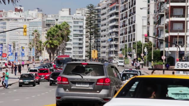 surroundings pocitos beach, montevideo, uruguay, 2015. - montevideo stock videos and b-roll footage