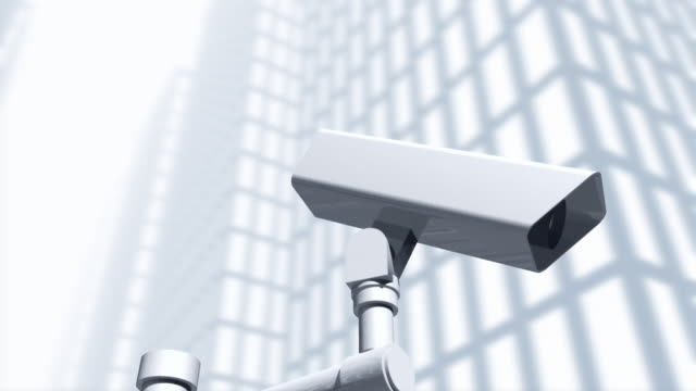 cgi surveillance cameras - big brother orwellian concept stock videos & royalty-free footage
