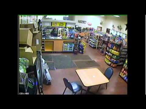 vidéos et rushes de / surveillance video of car crashing into convenience store narrowly missing hitting a customer / different viewpoints of the crash suv crashes into... - accident de la route