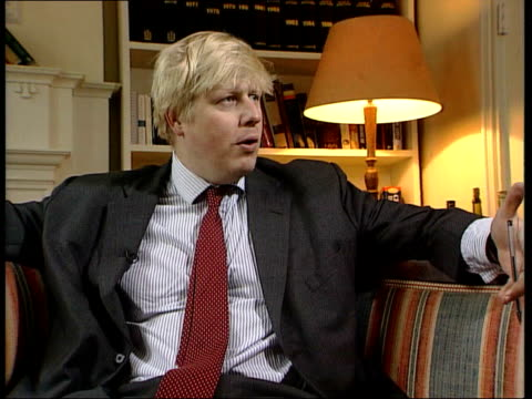 survey boris johnson interviewed sot - i don't think we're quite yet at the national consensus in favour of doing it - bumpy ride ahead and alarm... - doing a favour stock videos & royalty-free footage