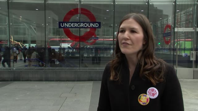 Survey reveals almost half of mums and pregnant women ignored while commuting ENGLAND London EXT Celia Venables interview SOT Close shot of six new...
