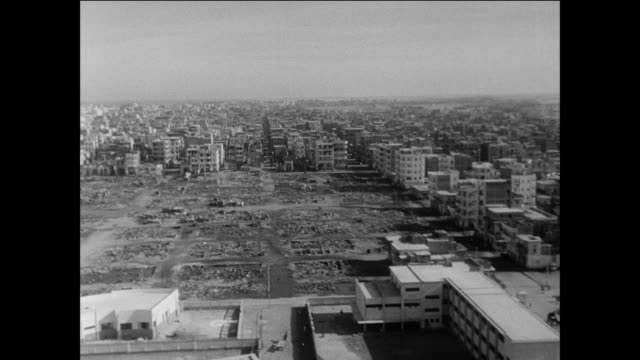 surveying the damage after an attack / port said egypt / suez canal crisis 1956 - port said stock videos & royalty-free footage