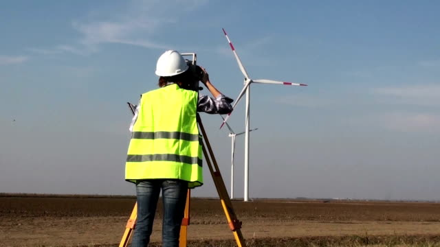 Surveyor at Wind Farm