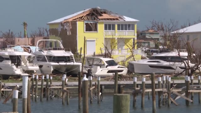 survivors in the bahamas start the long clear up after hurricane dorian ravaged the islands - survival stock videos & royalty-free footage