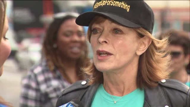 ktla survivors of sexual assault harassment come together for #metoo march in hollywood - marching stock videos and b-roll footage