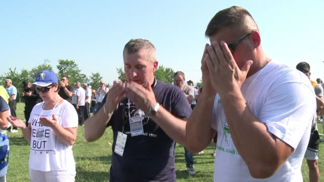 survivors of the srebrenica massacre were among thousands who set out wednesday on a solemn 100 kilometre memorial march ahead of the 20th... - kilometre stock videos & royalty-free footage