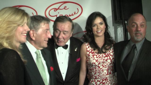 susan crow, tony bennett, sirio maccioni, katie lee joel, and billy joel at the opening party for le cirque at le cirque in new york, new york on may... - billy joel stock videos & royalty-free footage