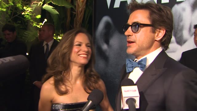 susan downey and robert downey jr at the 2010 vanity fair oscar party hosted by graydon carter at west hollywood ca - graydon carter stock videos and b-roll footage