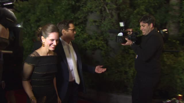 susan downey and robert downey jre at the 2011 vanity fair oscar party arrivals at hollywood ca - vanity fair oscar party stock videos & royalty-free footage