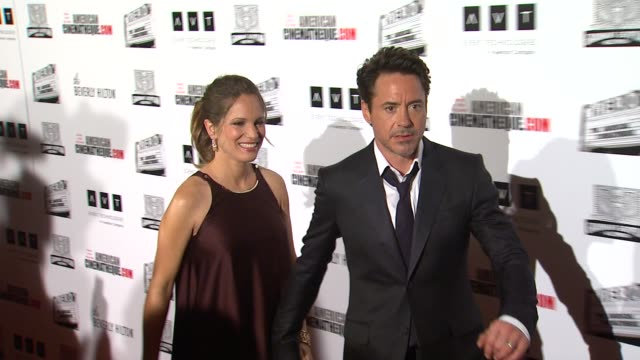 vídeos y material grabado en eventos de stock de susan downey robert downey jr at the the 25th annual american cinematheque award honoring robert downey jr at beverly hills ca - american cinematheque